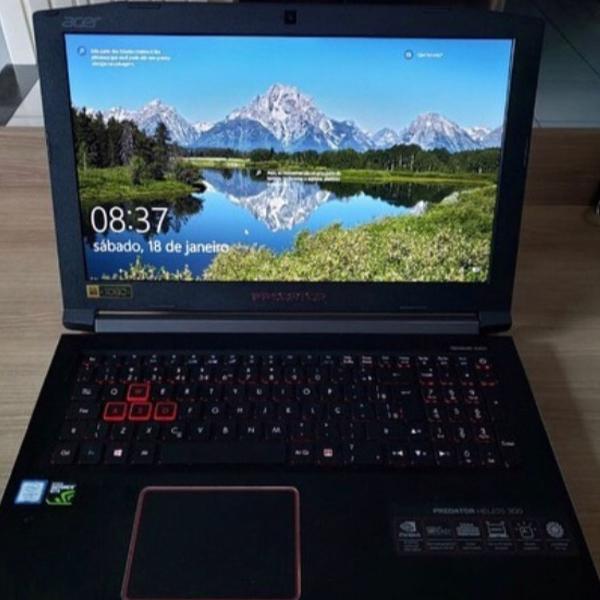 Notebook acer predator gamer gtx 1060