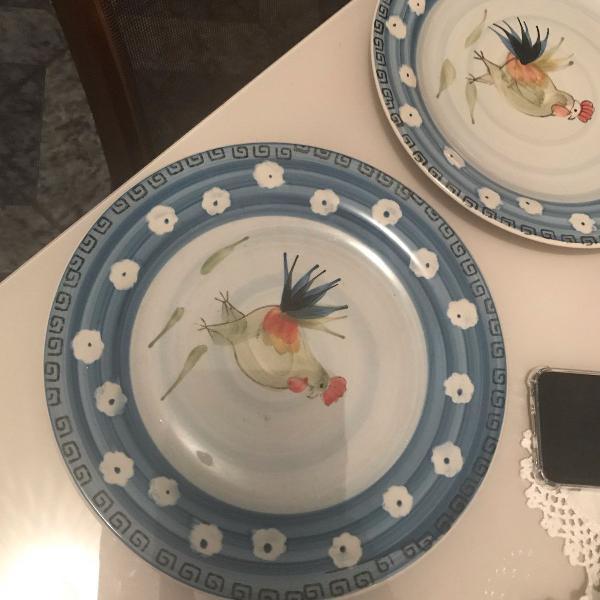 Pratos porcelana royal nolfork - pintados a mão
