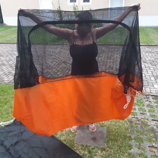 Rede de selva kampa com mosquiteiro modelo joy