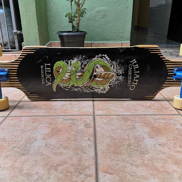 Skate longboard seminovo