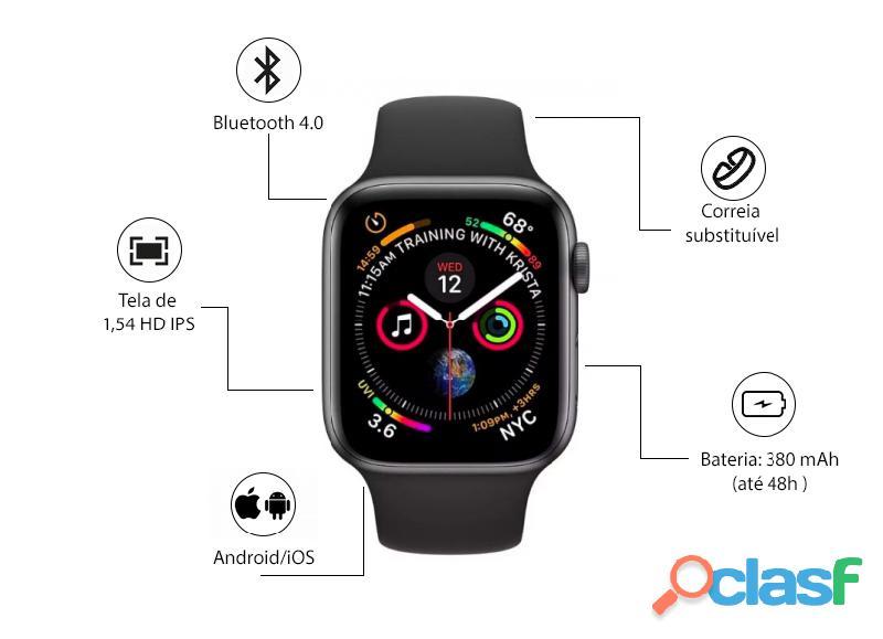 Smartwatch para andorid e ios fusion watch