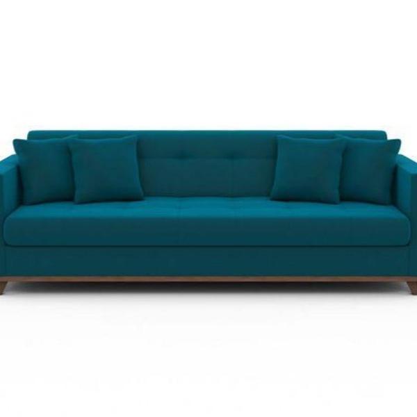Sofa azul 3 lugares semi novo