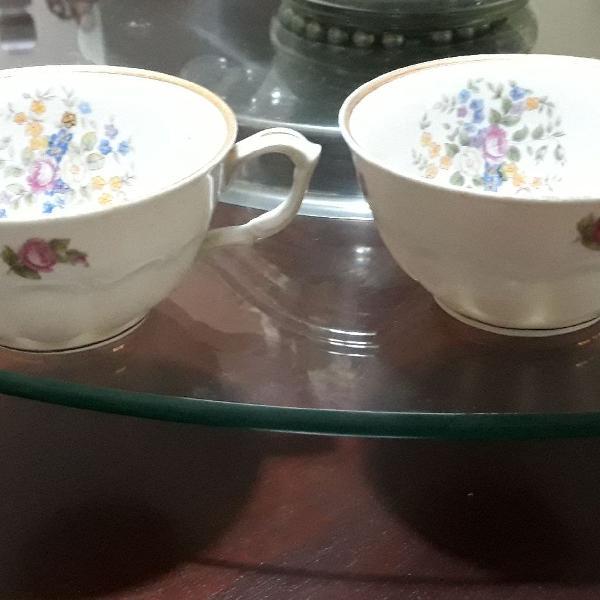 Xícaras de porcelana da polônia
