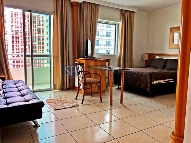 Apartamento para alugar com 1 dormitórios em pinheiros,
