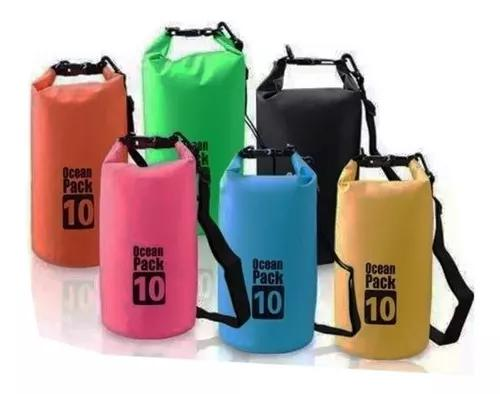 Bolsa estanque impermeável waterproof bag 10l cores sortida