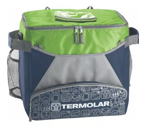 Bolsa termica 32 litros com alça de ombro verde ou laranja