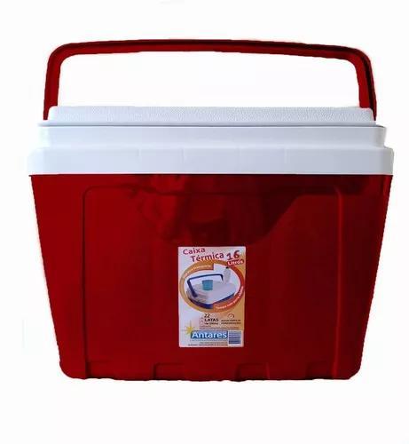 Caixa térmica 16 litros capacidade 22 latas de 350 ml