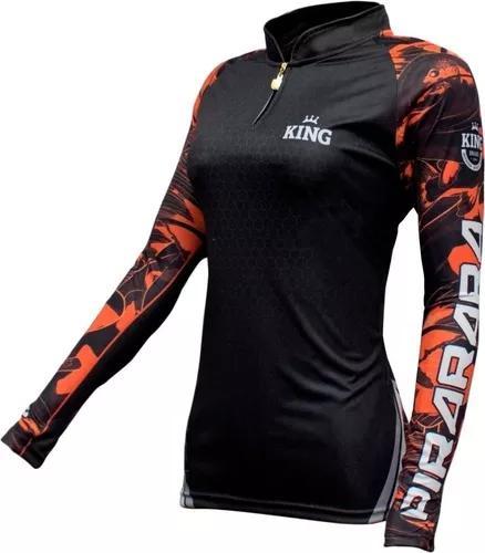 Camisa camiseta pesca king proteção uv f