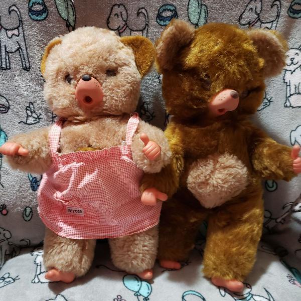 Casal Pelúcia Ursos Peposo e Peposa