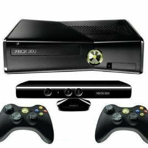 Console xbox 360 + kinect + 2 controles + 23 jogos