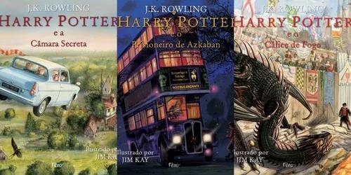 Harry potter ilustrado volumes 2 3 e 4