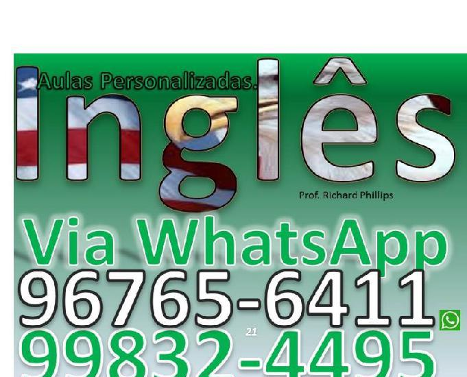 Inglês via whatsapp 0,50 por minuto! curso personalizado