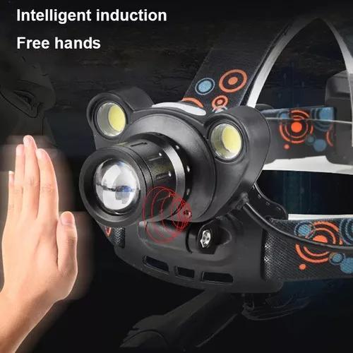 Lanterna cabeça recarregável regulável c/sensor