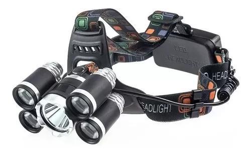 Lanterna de cabeça recarregavel luz de led potente 3 modos