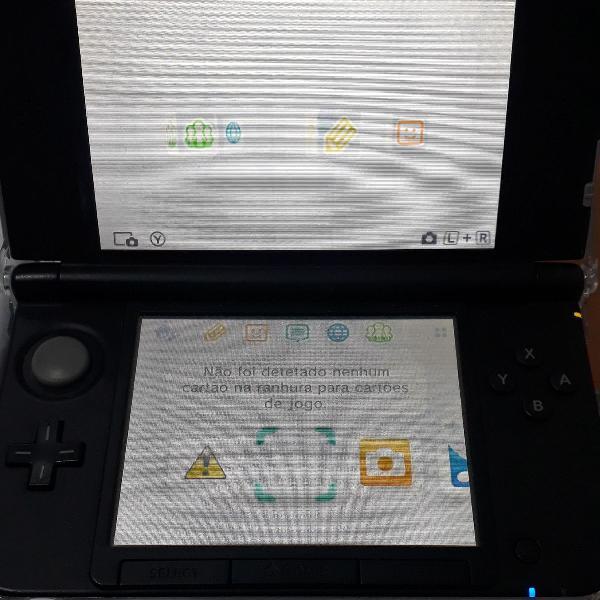 Nintendo 3ds xl cinza + 3 jogos