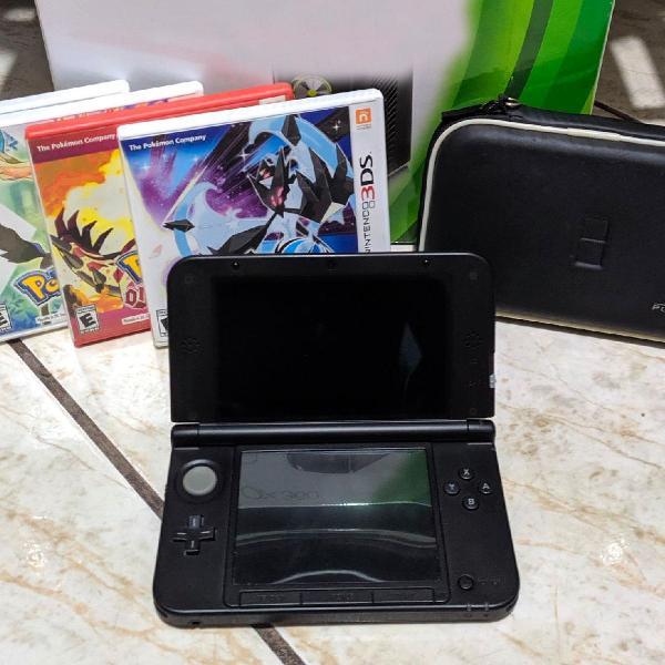 Nintendo 3ds xl + 4 jogos (original)