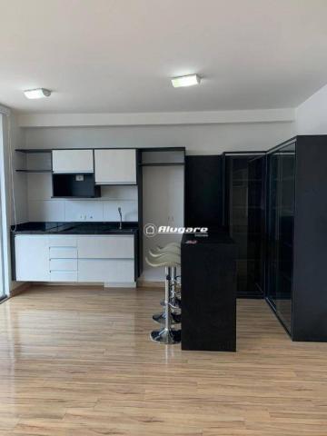 Studio com 1 dormitório para alugar, 38 m² por r$