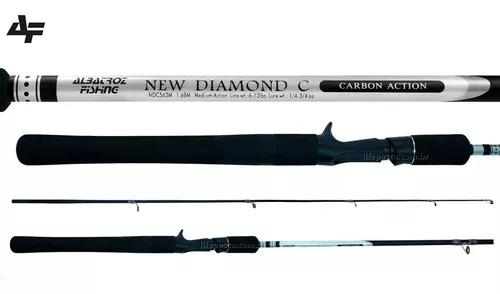 Vara p/ carretilha albatroz new diamond (1,68m) 6-12lb 2p nf