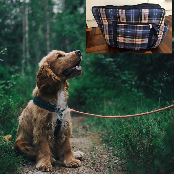 Bolsa de passeio transporte cachorro com zíper