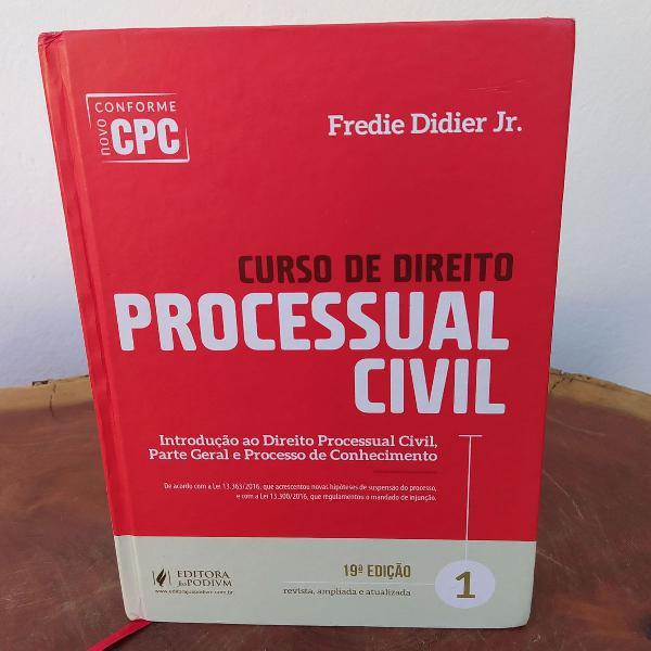 Curso de direito processual civil - fredie didier jr. 2017