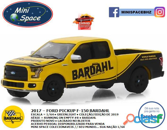 Greenlight 2017 Ford F 150 Pickup logo Bardahl 1/64 3