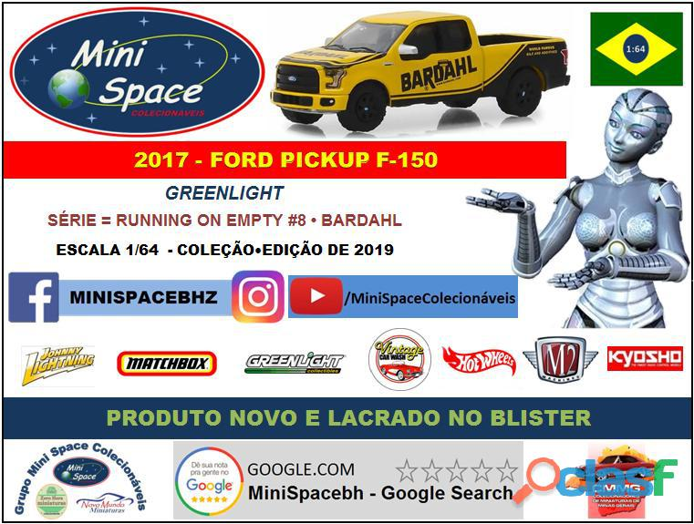 Greenlight 2017 Ford F 150 Pickup logo Bardahl 1/64 8