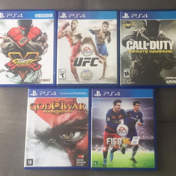 Kit com 5 jogos para ps4 - playstation 4 - street fighter v