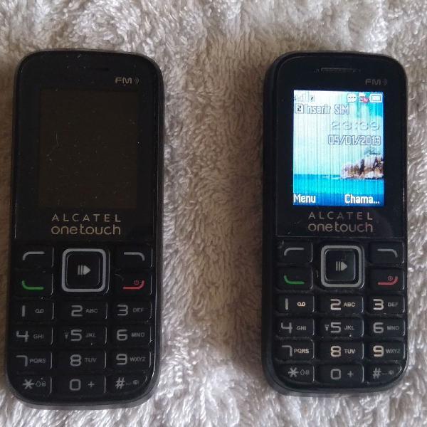 Kit dois celulares alcatel onetouch