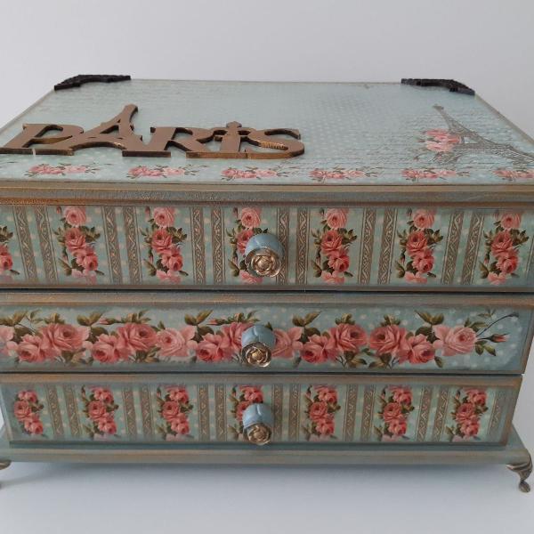 Porta jóias modelo cômoda com gavetas