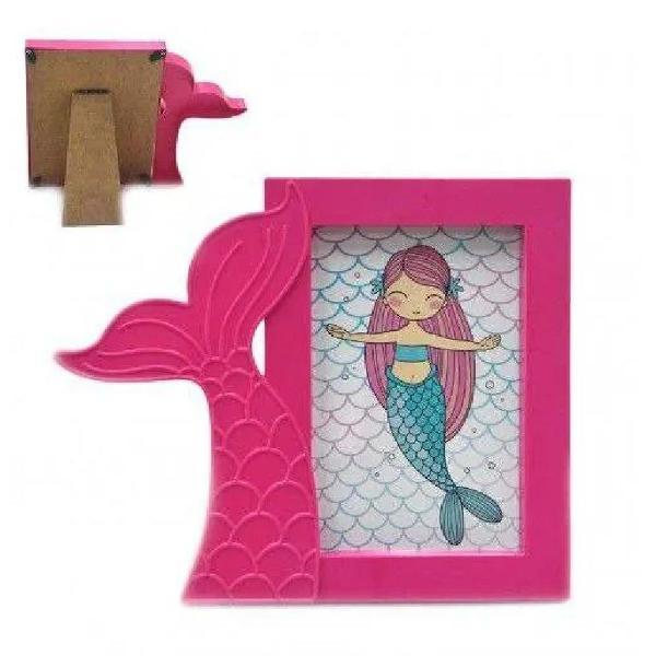Porta retrato sereia rainha do mar 10x15cm infantil