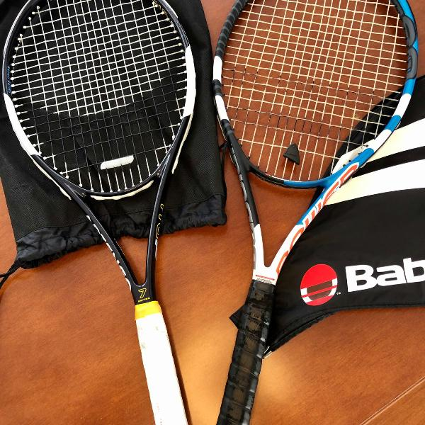 Raquetes de tênis babolat e artengo