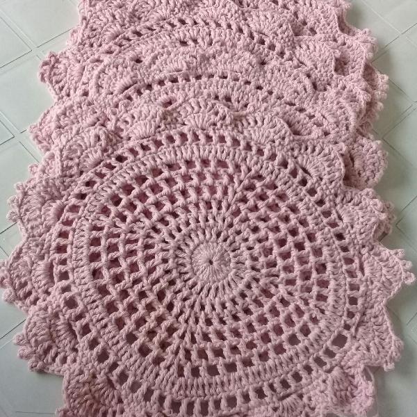 Sousplat de crochê 4 peças