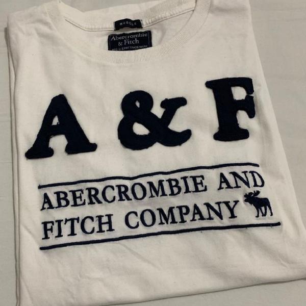 Camiseta abercrombie bordada importada eua