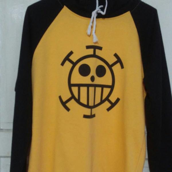 Camiseta masculina raglan manga longa trafalgar law one pi