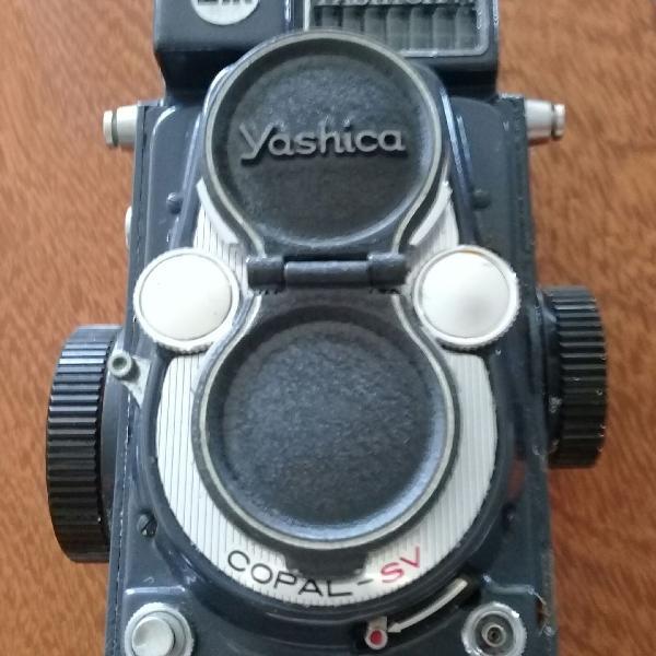 Câmera fotográfica yashica 44 raridade!