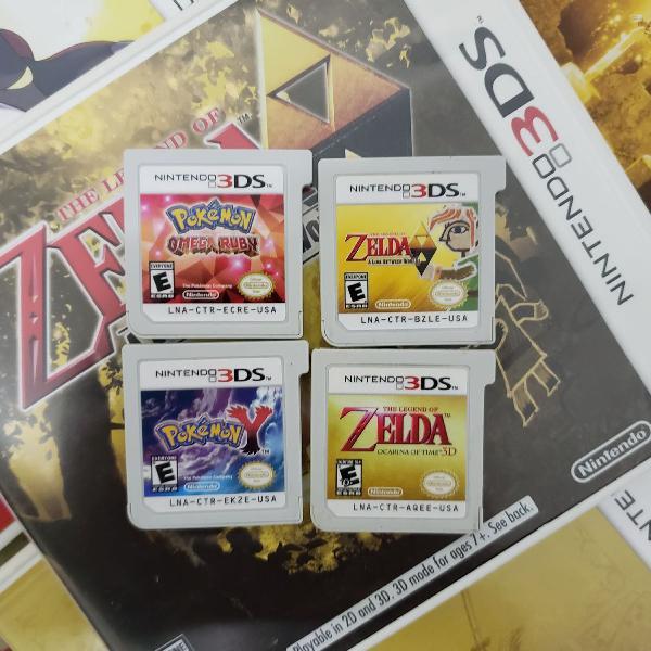 Jogos 3ds pokemon e zelda