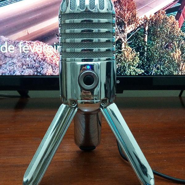 Microfone samson meteor mic novo! na caixa! youtuber