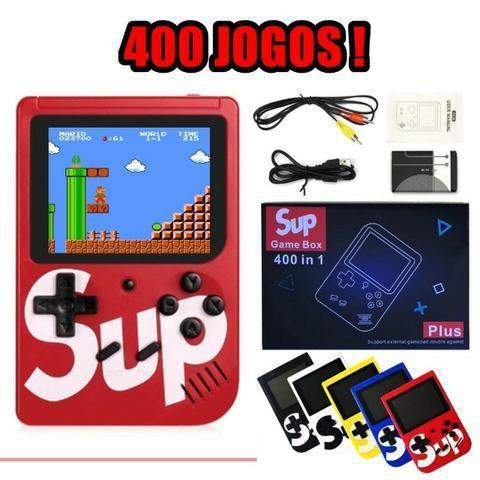 Mini game portátil retrô 400 jogos estilo nintendo 8 bits