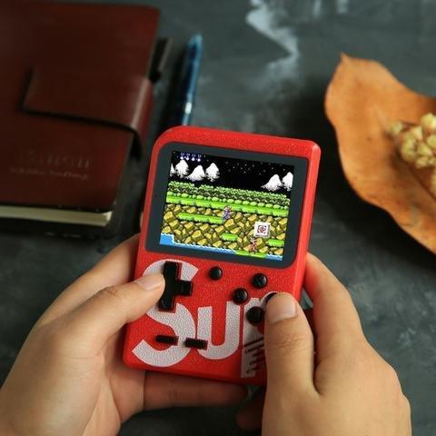 Mini game retro 400 jogos plus tela grande e colorida