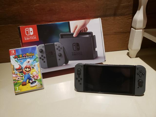 Nintendo switch completo + 1 jogo mario!! aceito ps3, ps4,
