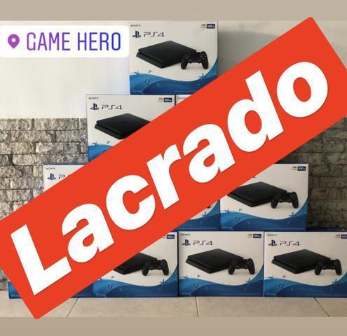Playstation 4 slim 500gb lacrado hdr (game hero/madureira)