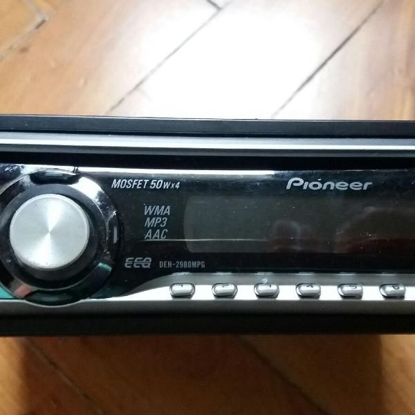 Rádio automotivo cd player mp3 pioneer seminovo deh 2980