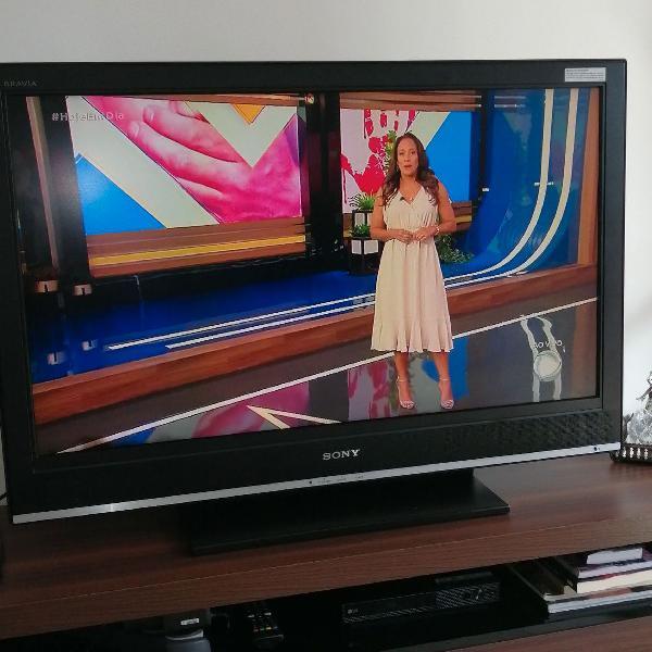 Tv sony de lcd, com controle remoto