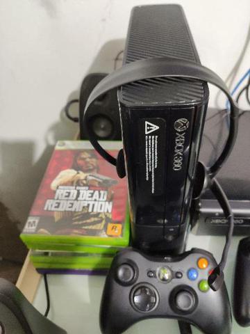 Xbox 360 com kinect bloqueado + jogos originais