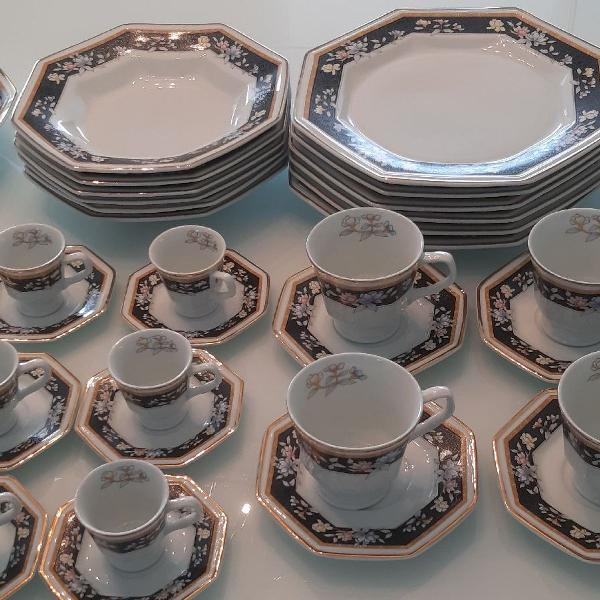 Aparelho de jantar chá e café porcelana schmidt