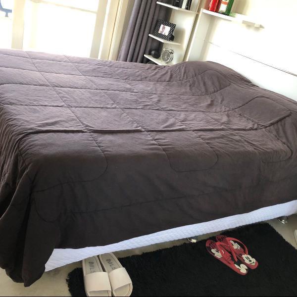 cama queen box + colchão ortobom