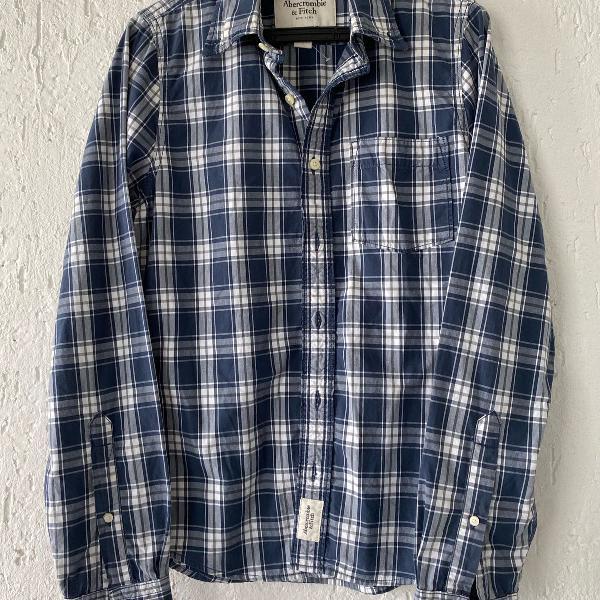 Camisa xadrez marinho abercrombie