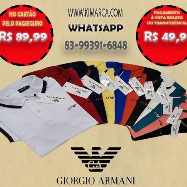 Camisas polo giorgio armani todas as cores