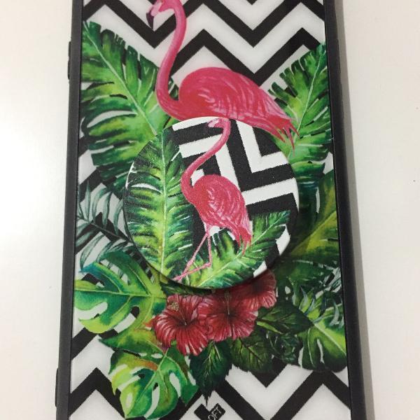 Capinha flamingo com pocket socket