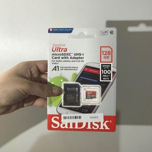 Cartão de memória 128gb san disk